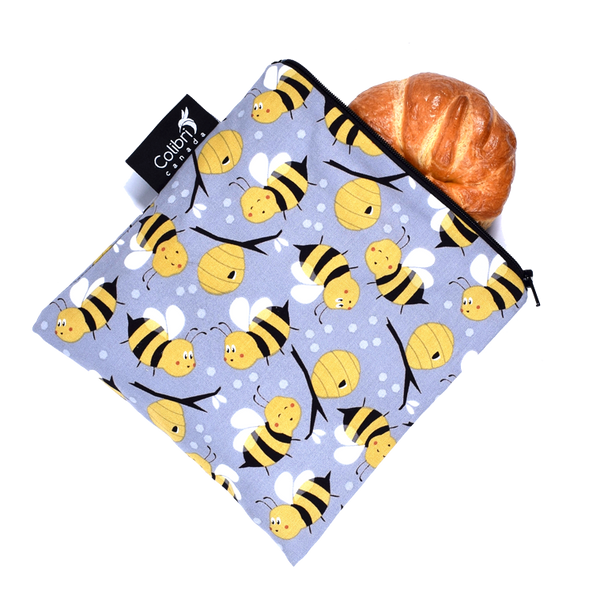 Colibri Bumble Bee Reusable Large Snack Bags made in Canada