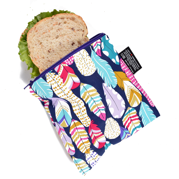Colibri Reusable Large Snack Bags Litterless Lunch