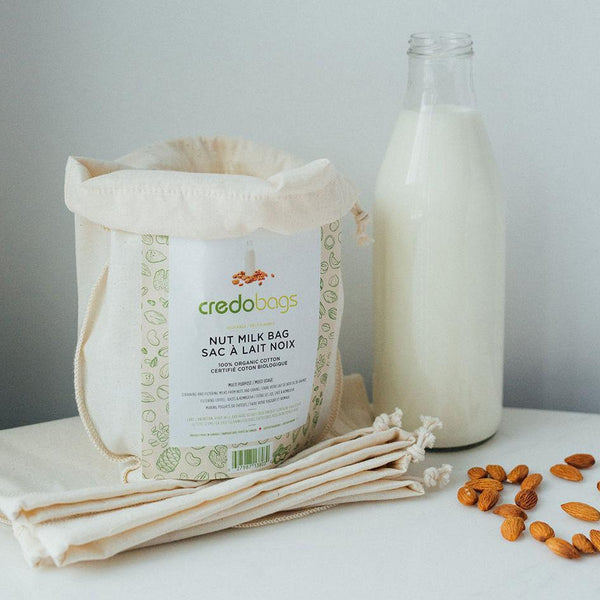 Credobags - Organic Cotton Muslin Nut Milk Bag Make your own Dairy Free Milk