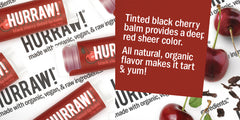 Hurraw! - Black Cherry Tinted Lip Balm