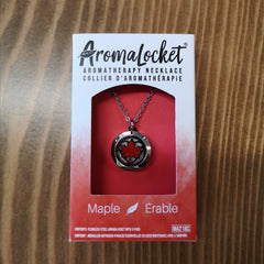AromaLocket - Aromatherapy Locket Mini Maple Leaf All Things Being Eco