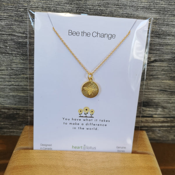 Heart and Lotus - Bee The Change Necklace