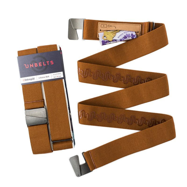 Unbelts - Intrepid Performance Stretch Belt Cognac All Things Being Eco Chilliwack