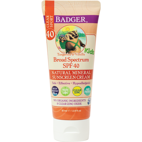 Badger - Kids Sport Sunscreen Clear Zinc SPF 40 All Things Being Eco Chilliwack
