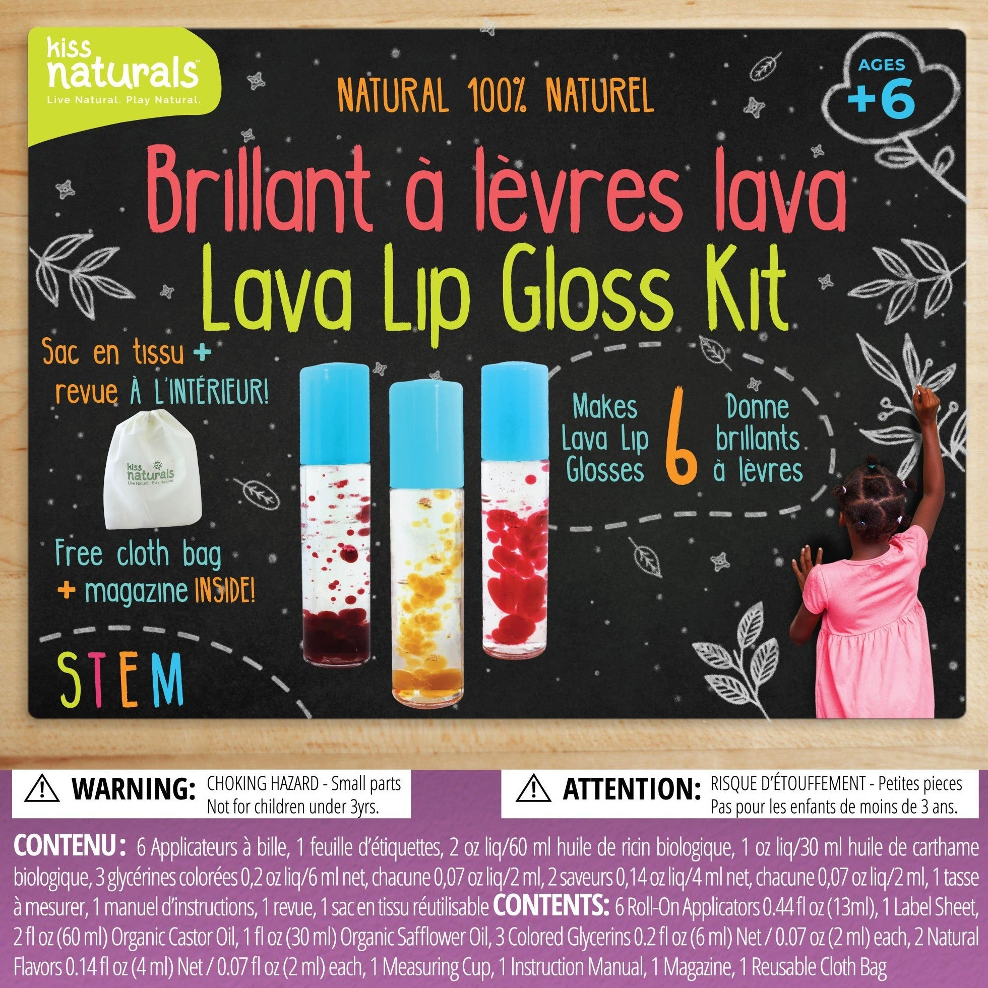 Kiss Naturals - DIY Lava Lip Gloss Kit Home School Art Project All Things Being Eco
