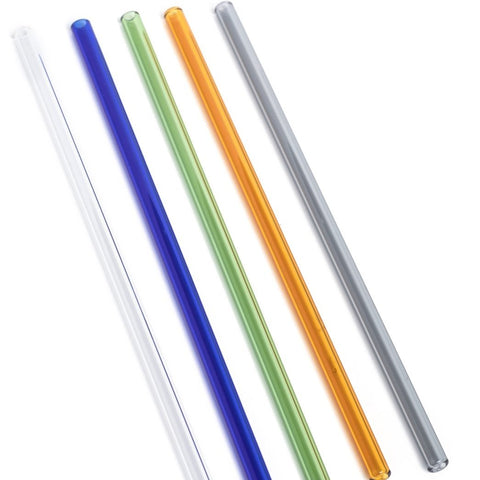 Life Without Waste - Coloured Glass Drinking Straws All Zero Waste Living