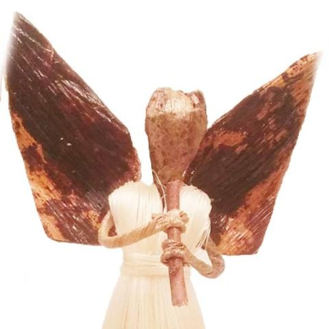 Maisha - Sisal Angel with Flute