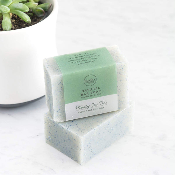 Rocky Mountain Soap Company - Minty Tea Tree Soap All Things Being ECo Chilliwack Vegan Bar Soap Cruelty Free