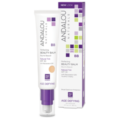 PERFECTING BB BEAUTY BALM NATURAL TINT SPF 30 andalou naturals organic skincare