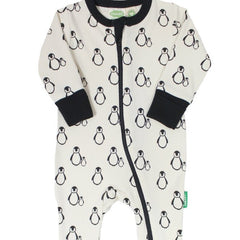 Parade Organics - Organic 2-Way Zipper Romper Penguins All Things Being Eco