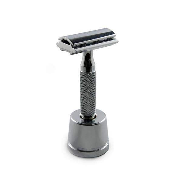 Rockwell Razors - Gunmetal Chrome Razor Stand Zero Waste Shave Products All Things Being Eco