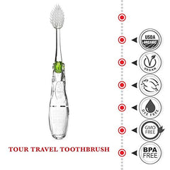 Radius Tour Travel Toothbrush Green