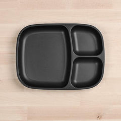 Re-Play Black Large Divided Plate