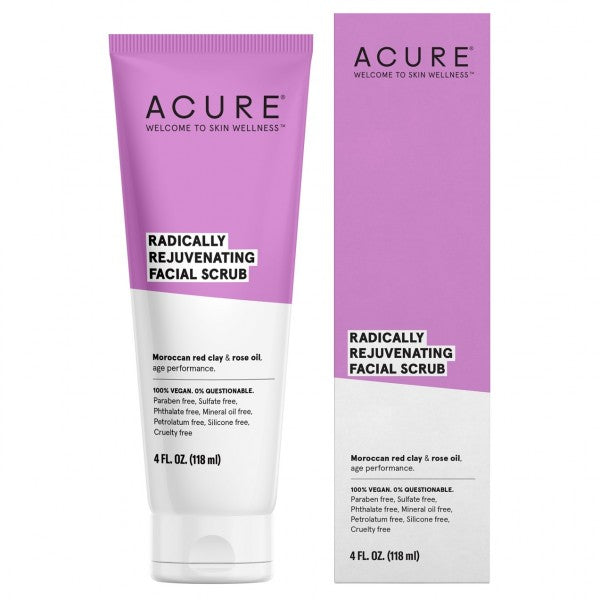 Acure - Radically Rejuvenating Facial Scrub Vegan Face Products All Things Being Eco