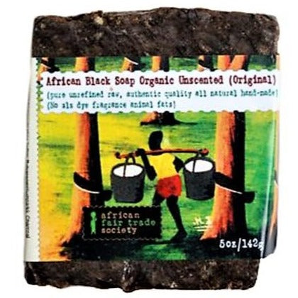 African Fair Trade Society - Unscented African Black Soap All Things Being Eco Chilliwack