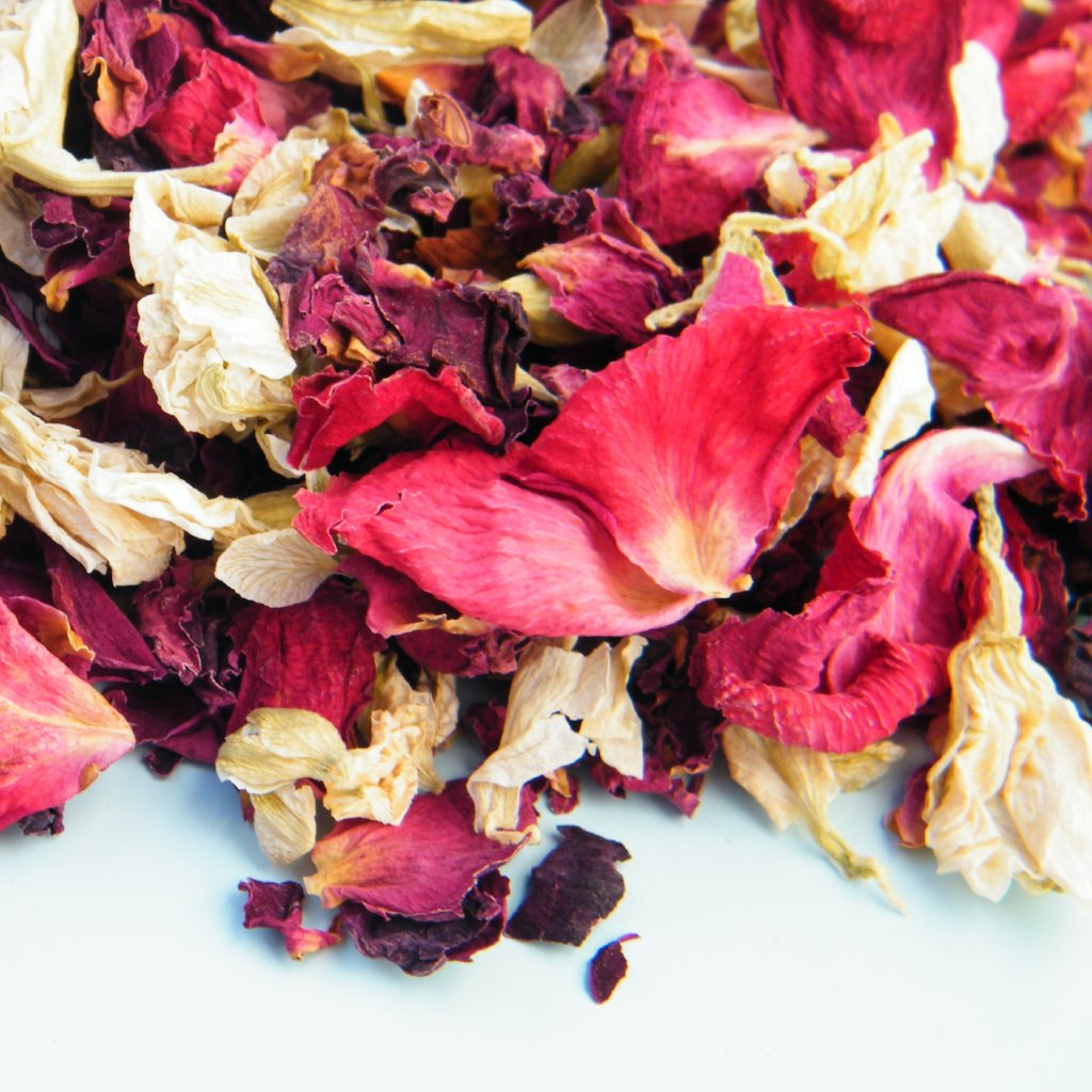 All Things Being Eco - Dried Rose Petals and Buds Bulk