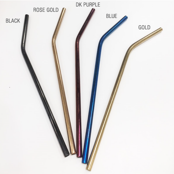 All Things Jill - Stainless Steel Reusable Bent Straws