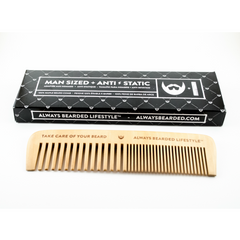 Always Bearded - Anti-Static Maple Wood Beard Comb All Things Being Eco CHilliwack