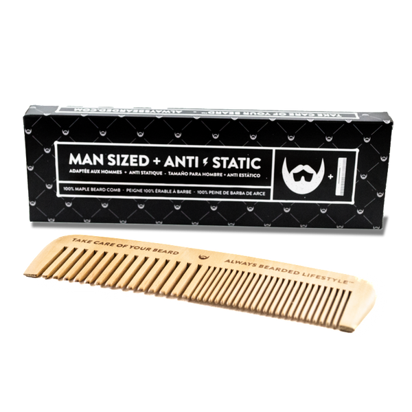 Always Bearded - Anti-Static Maple Wood Beard Comb