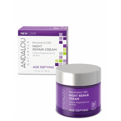 Andalou Naturals - Age Defying - Resveratrol Q10 Night Repair Cream