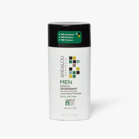 Andalou Naturals - Men's CannaCell Highland Pine Deodorant All Things Being Eco Chilliwack