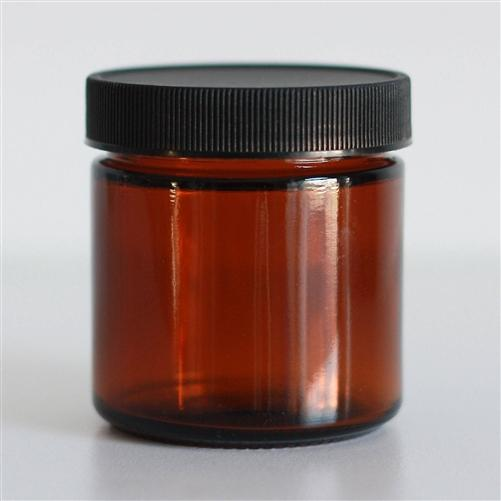 All Things Being Eco 100ml Amber Glass Jar Zero Waste