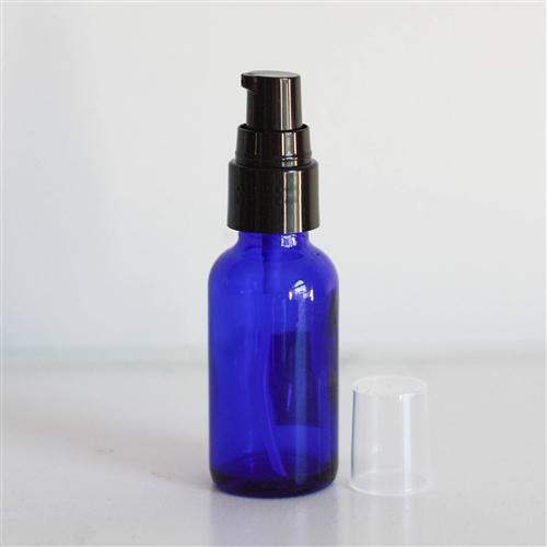 All Things Being Eco - 1oz. Blue Glass Bottle with Treatment Pump