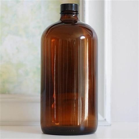All Things Being Eco - 32oz. Amber Glass Boston Round Bottle