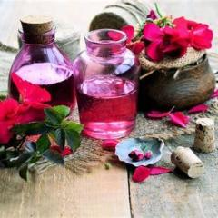 All Things Being Eco Organic Rose Geranium Essential Oil