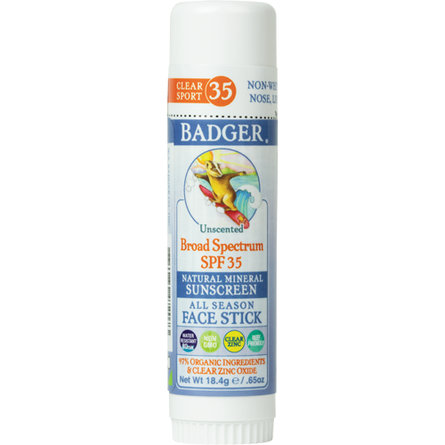 Badger - All Season Unscented Sport Face Stick 35 SPF