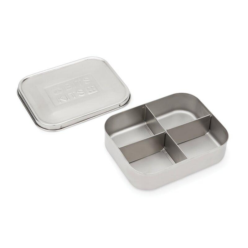 Bits Kits - Stainless Steel 4 Section Bento Container