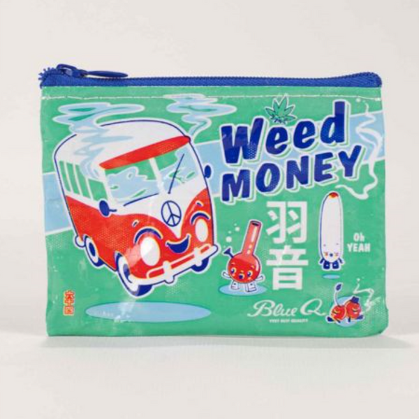 Blue Q - Weed Money Coin Purse All Things Being Eco Chilliwack