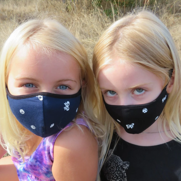 Blue Sky - Children's Reversible Reusable Bamboo Face Masks