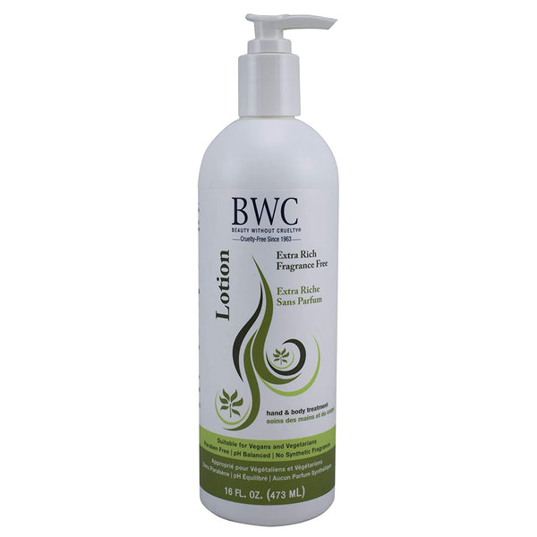Beauty Without Cruelty - Fragrance Free Extra Rich Hand and Body Lotion