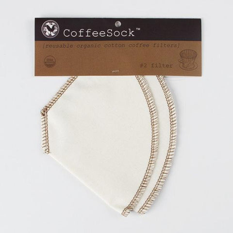 Coffee Sock Organic Cotton #2 Cone Style Reusable Coffee Filter