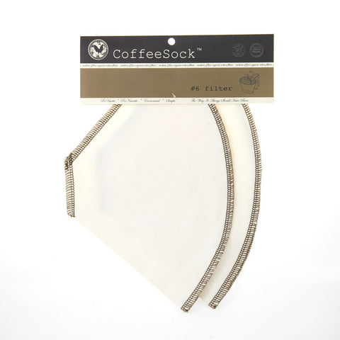 Coffee Sock - #6 Cone Style Reusable Coffee Filter All Things Being Eco Organic Cotton