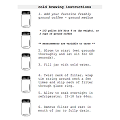 CoffeeSock Coldbrew Kit Instructions