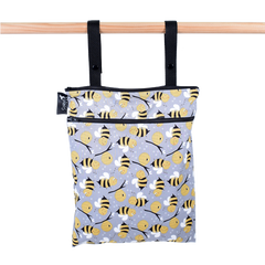 Colibri - Bumble Bees Double Duty Wet Bag Made in Canada All Things Being Eco