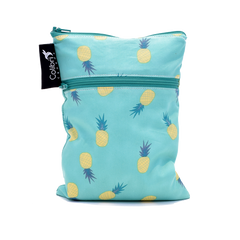 Colibri - Pineapple Double Duty Reusable Mini Wet Bag Made in Canada Zero Waste Bags All Things Being Eco