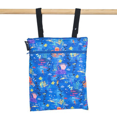 Colibri - Double Duty Wet Bag Under The Sea Made in Canada Reusable Multi-purpose Bag All Things Being Eco