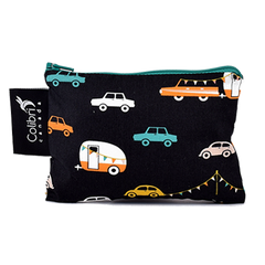 Colibri Reusable Small Snack Bags Road Trip Print Zero Waste Lunch All Things Being Eco