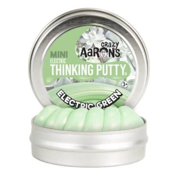 Crazy Aaron's Thinking Putty - Mini Electric Green Eco Kids Toys All Things Being Eco