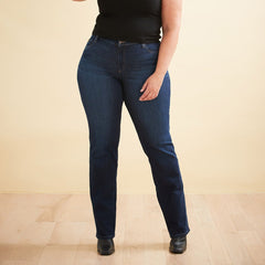 Second Yoga Jeans - Classic Rise Chloe Straight in Dark Indie