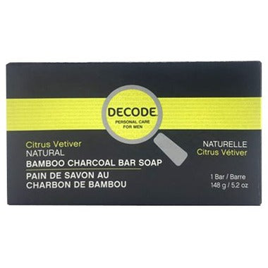 Decode - Citrus Vetiver Bamboo Charcoal Bar Soap