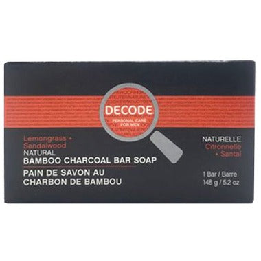 Decode - Lemongrass and Sandalwood Bamboo Charcoal Bar Soap