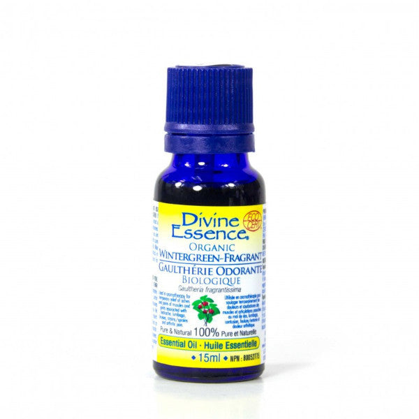 Divine Essence - Organic Wintergreen Fragrant Essential Oil 0.5 oz.