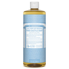 Dr.Bronner's - 18-in-1 Baby Unscented Liquid Castile Soap