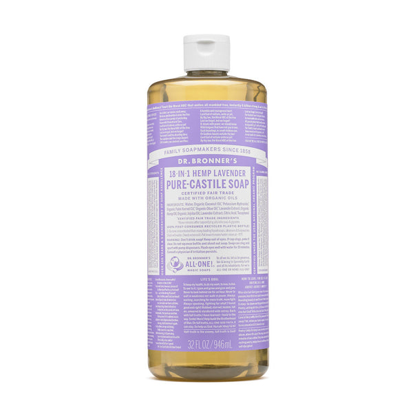 Dr.Bronner's - 18-in-1 Lavender Liquid Castile Soap 32oz