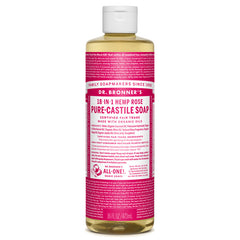 Dr.Bronner's - 18-in-1 Rose Liquid Castile Soap 16oz