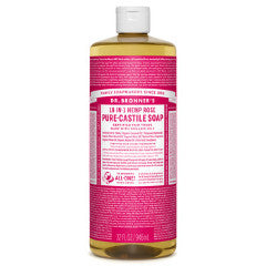Dr.Bronner's - 18-in-1 Rose Liquid Castile Soap 32oz